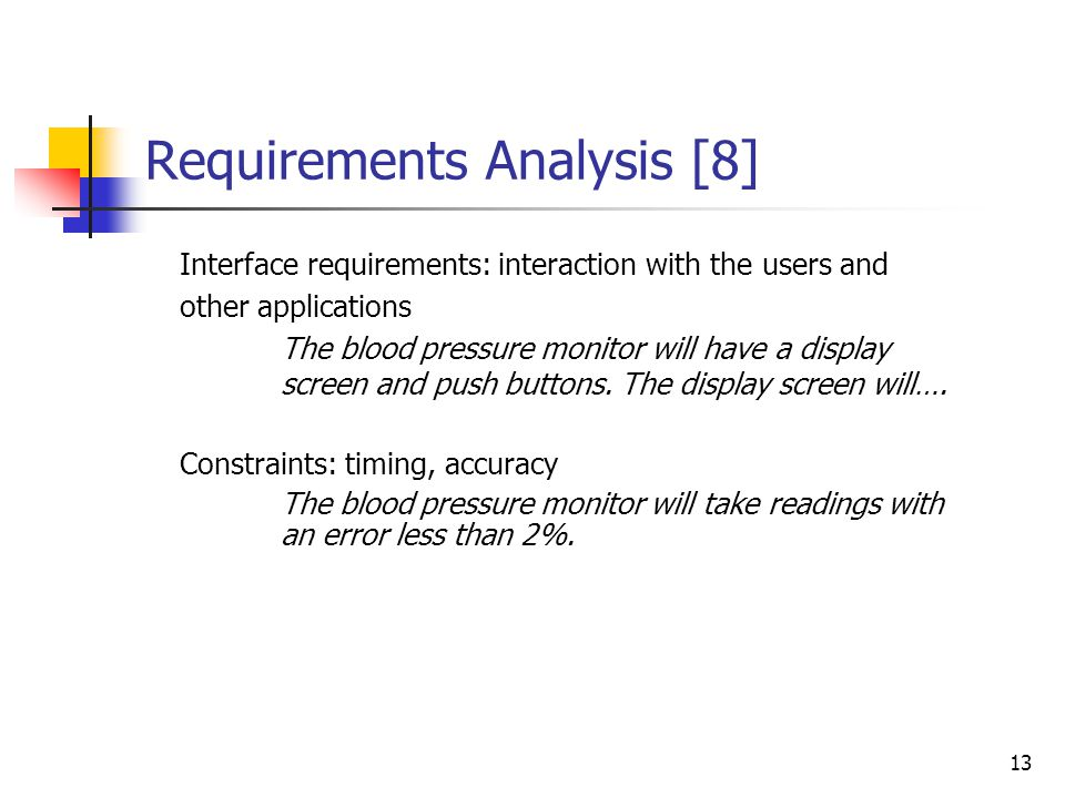 Requirements Analysis [7]